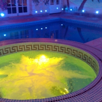 Jacuzzi with LED lighting in East Kent
